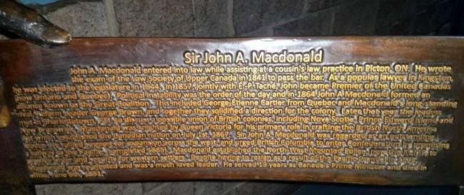 Writing on Sir John A. Macdonald chairs